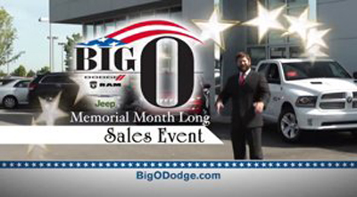 Big O Dodge Chrysler-TV ad