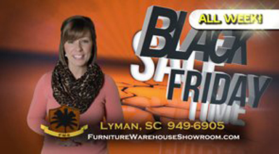 Furniture Warehouse Showroom Black Friday Sale